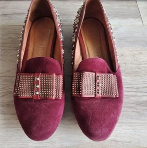 Jeffrey Campbell studded bow loafers